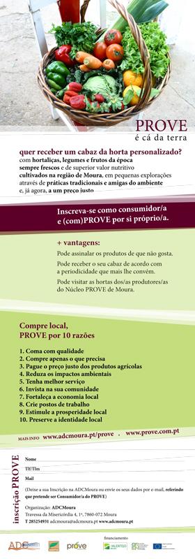 Folheto e cartaz do PROVE de Moura