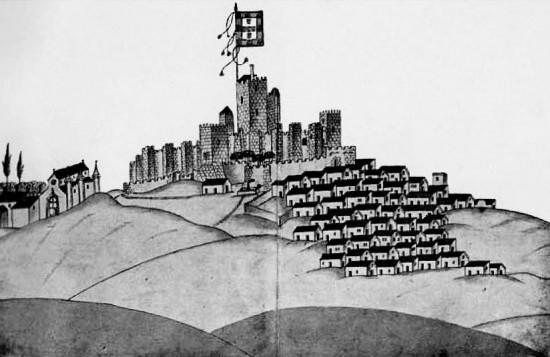 Moura.Vista da banda de oeste.Duarte d'Armas, 1509.