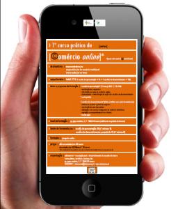 cartaz curso comercio online